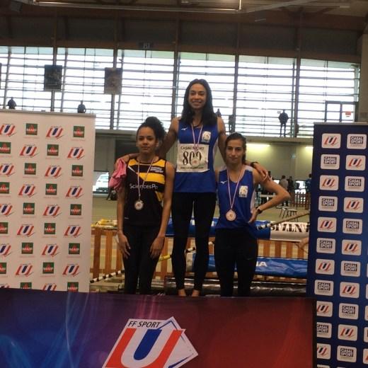 800 mètres féminin :  1ère : Anais Seiller (UDL – UTE LYON 3)  3ème: Charlotte Dumas (UDL – Lyon 1 STAPS)
