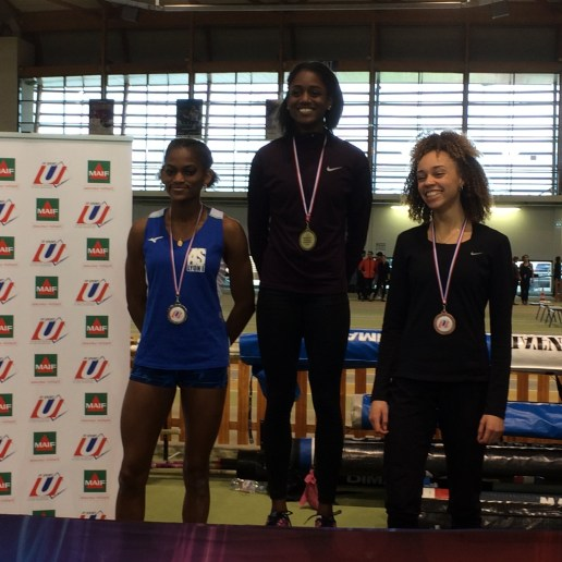 400 mètres féminin  2ème : Kalyl Amaro (UDL – Lyon 1 STAPS)